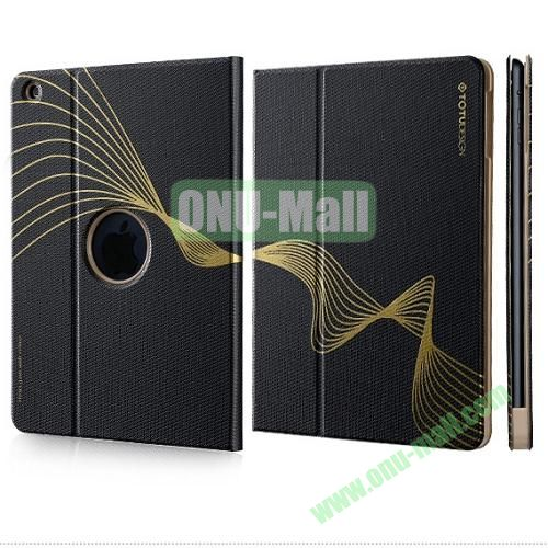 TOTU Design Golden Series Smart Cover PC and PU Leather Case for iPad Air (Black)