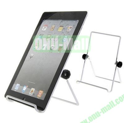 180 Rotating Multi-Angle Stand Holder for Apple iPad 2 New iPad iPad 4 Galaxy Tab Tablet PC (White)