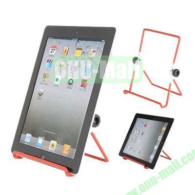 180 Rotating Multi-Angle Stand Holder for Apple iPad 2 New iPad iPad 4 Galaxy Tab Tablet PC (Red)