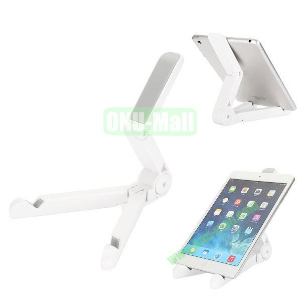 Portable Adjustable Foldable Stand Holder for iPad, Samsung Tablet, Other 7-10 inch Tablet PC etc (White)