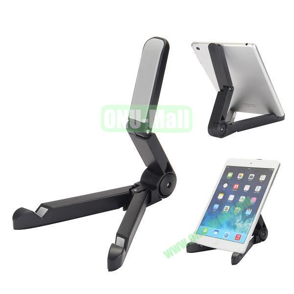 Portable Adjustable Foldable Stand Holder for iPad, Samsung Tablet, Other 7-10 inch Tablet PC etc (Black)