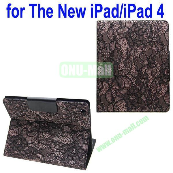 Bud silk Texture Leather Case for iPad 2the New iPadiPad 4 with 4 Gears Holder (Brown)