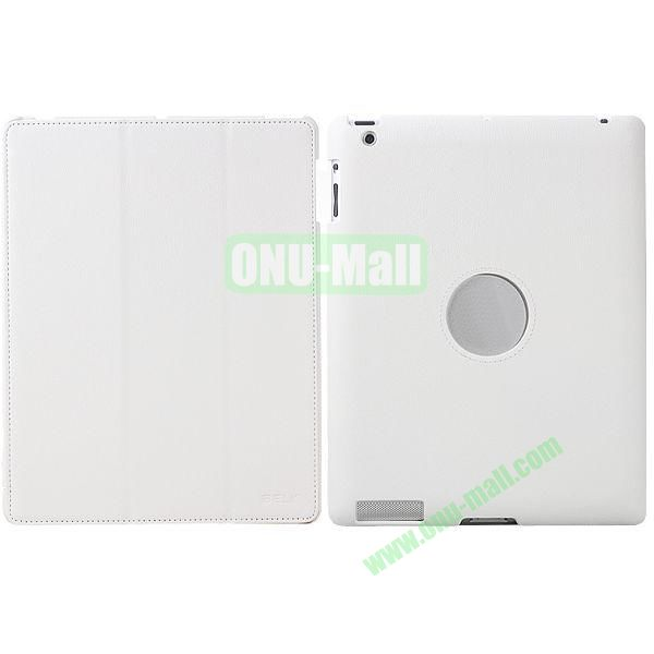 BELK 3-folding Smart Cover for iPad 234 with Wake-up Function and stand (White)