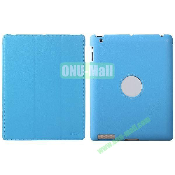 BELK 3-folding Smart Cover for iPad 234 with Wake-up Function and stand (Blue)