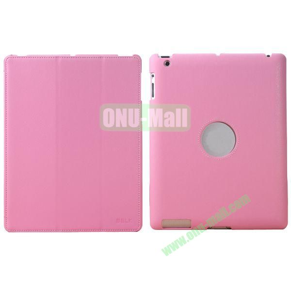 BELK 3-folding Smart Cover for iPad 234 with Wake-up Function and stand (Pink)