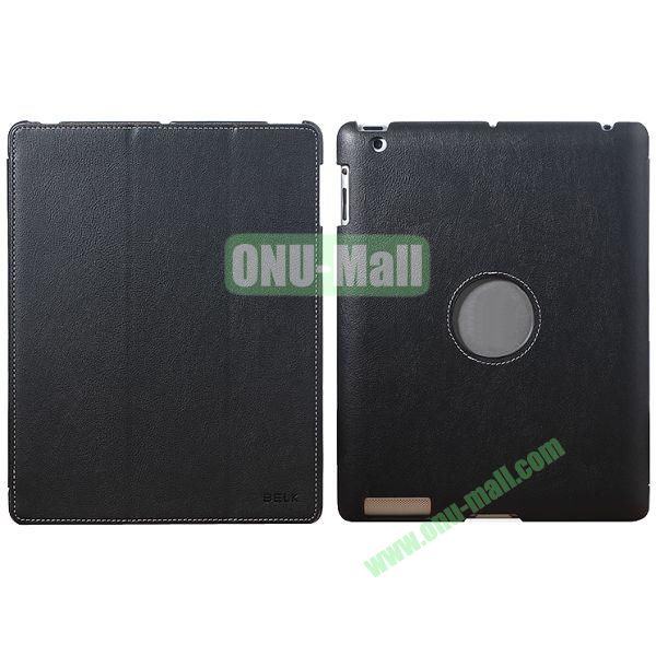 BELK 3-folding Smart Cover for iPad 234 with Wake-up Function and stand (Black)