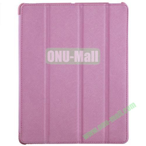 BELK Italian Style 4-folding Smart Cover for iPad 234 with Holder (Pink)