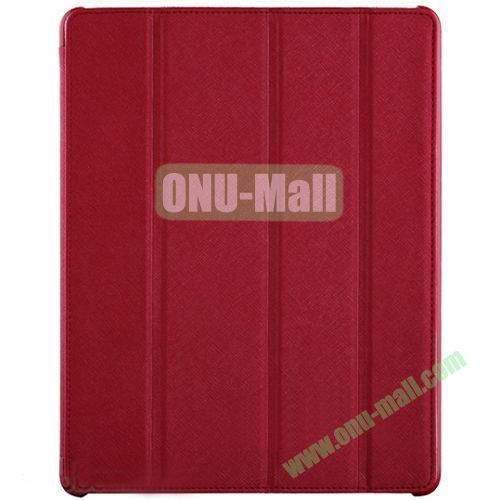 BELK Italian Style 4-folding Smart Cover for iPad 234 with Holder (Red)