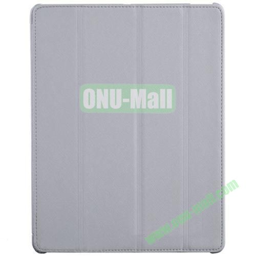 BELK Italian Style 4-folding Smart Cover for iPad 234 with Holder (Grey)