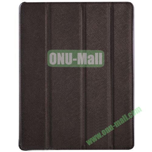 BELK Italian Style 4-folding Smart Cover for iPad 234 with Holder (Brown)