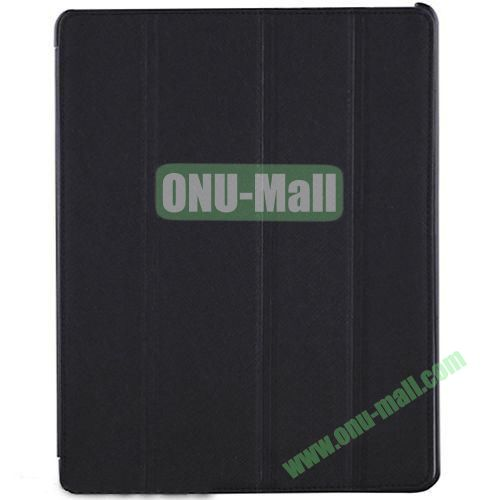 BELK Italian Style 4-folding Smart Cover for iPad 234 with Holder (Black)