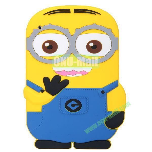 3D Cute Despicable Me Minion Silicon Case For the New iPad  iPad 4 (Blue)