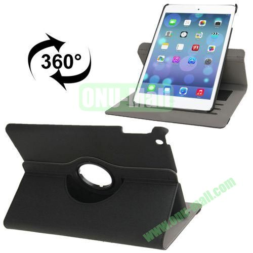 360 Degree Rotation Denim Texture Leather Case for iPad Air with 3 Gears Holder & Credit Card Slots & Sleep  Wake-up Function (Black)