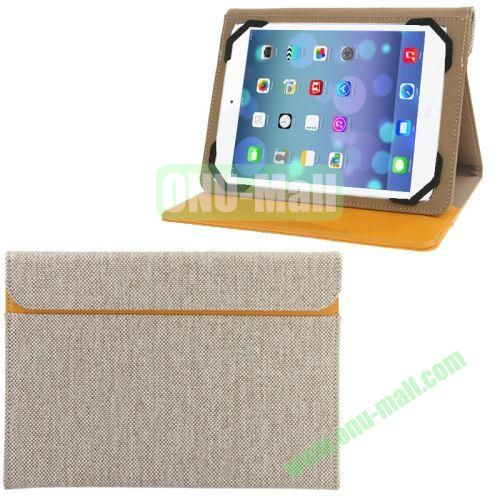 Briefcase Style Weaving Cloth Texture Leather Case for iPad Air with Credit Card Slot & Holder