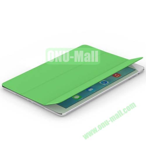 3-Folding PU Material Smart Cover for iPad Air (Green)