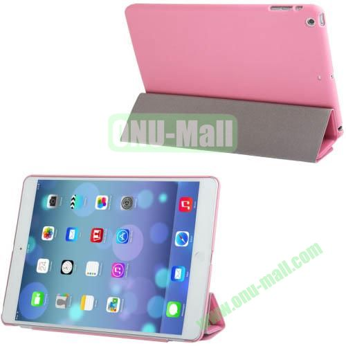 4-folding Smart Cover Companion Hard Case for iPad Air (Pink)