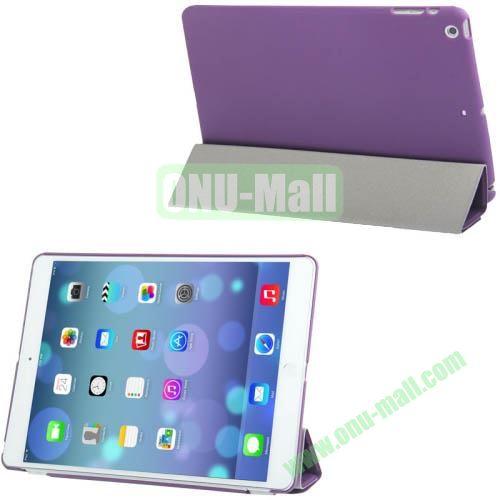 4-folding Smart Cover Companion Hard Case for iPad Air (Purple)