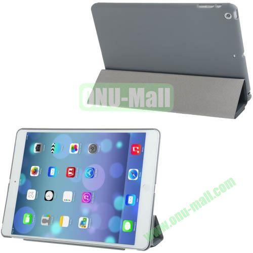 4-folding Smart Cover Companion Hard Case for iPad Air (Grey)