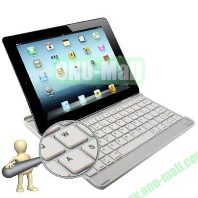 Bluetooth 3.0 Ultrathin Aluminum Keyboard for iPad Air (Silver)