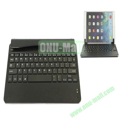 Aluminum Alloy Bluetooth Keyboard Case for iPad Air with Stand (Black)