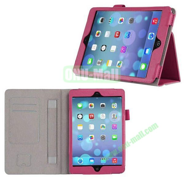 New Arrival Genuine Leather Case for iPad Mini Retina with Card Slots and Holder & Armband (Rose)
