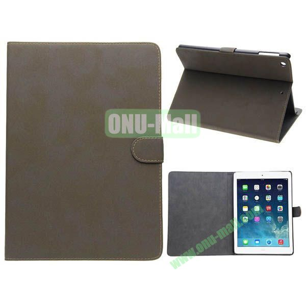 Retro Style Leather Case for iPad Air with Holder (Grey)