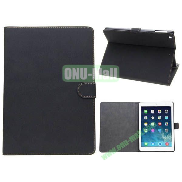 Retro Style Leather Case for iPad Air with Holder (Black)