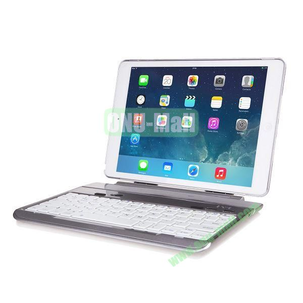 Multi-functional Aluminum Alloy Bluetooth Keyboard for iPad Air (Wihte)