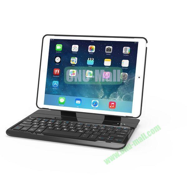 Multi-functional Aluminum Alloy Bluetooth Keyboard for iPad Air (Black)