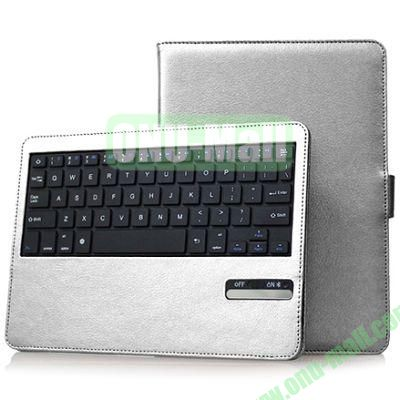 Hot Sale Folio Leather Case with Detachable Bluetooth Keyboard for iPad Air (White)