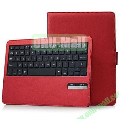 Hot Sale Folio Leather Case with Detachable Bluetooth Keyboard for iPad Air (Red)