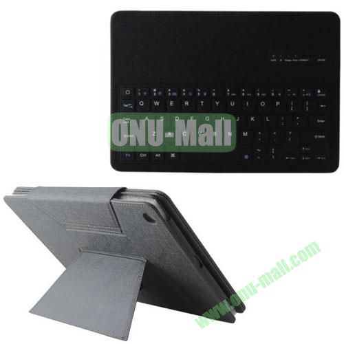 Detachable Bluetooth Keyboard Leather Case for iPad Air with Holder (Black)
