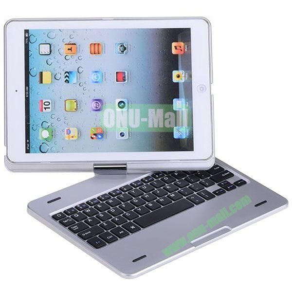 For iPad Air 360 Degree Rotation Bluetooth 3.0 Keyboard with Magnetic Hinge (Silver)