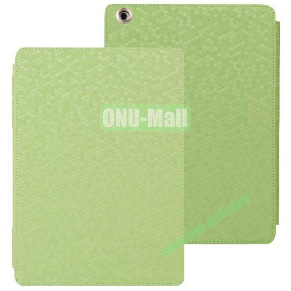 Diamond Grid Pattern Leather Case for iPad Air with Holder (Green)