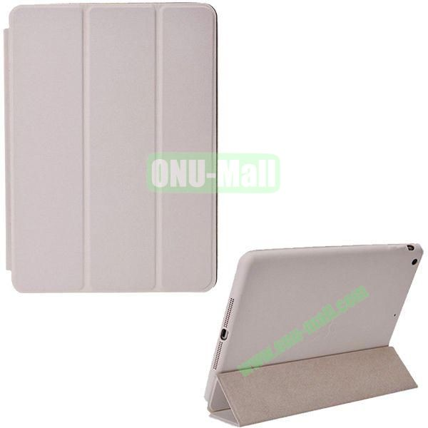 Official 3-folding Smart Case for iPad Air With Holder (White)
