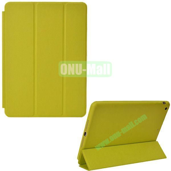 Official 3-folding Smart Case for iPad Air With Holder (Green)