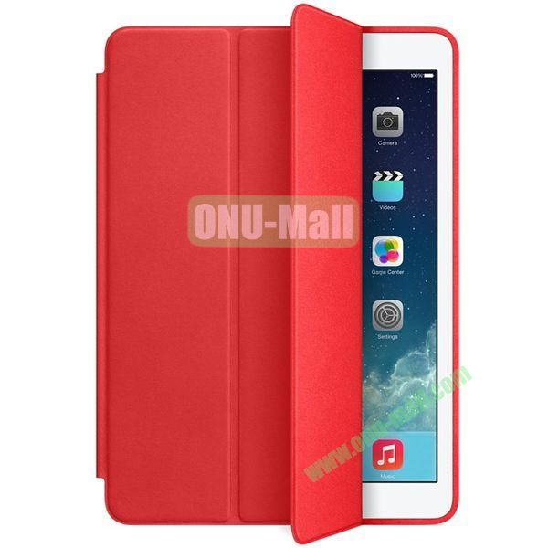 Official 3-folding Smart Case for iPad Air With Holder (Red)