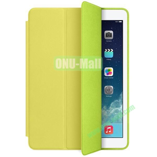 Official 3-folding Smart Case for iPad Air With Holder (Yellow)