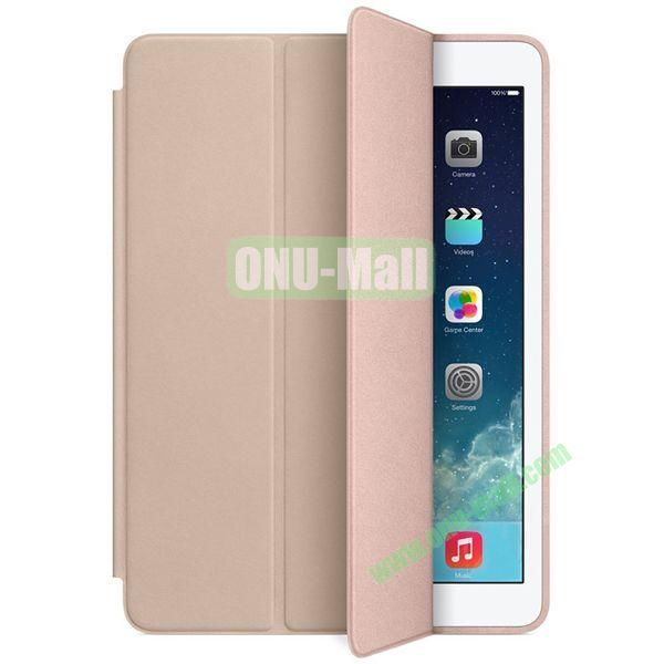 Official 3-folding Smart Case for iPad Air With Holder (Light Brown)