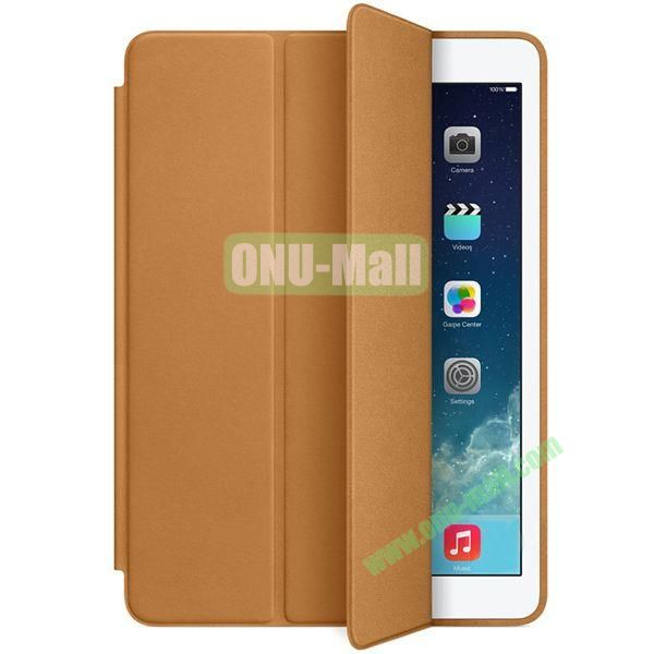 Official 3-folding Smart Case for iPad Air With Holder (Brown)
