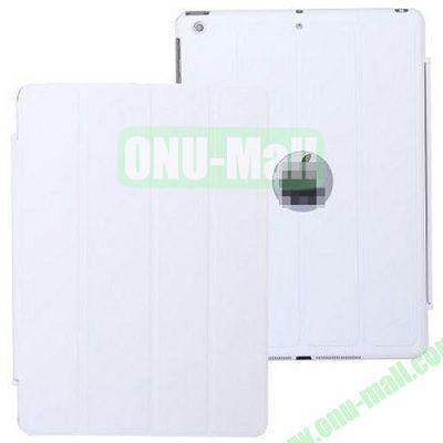 4-folding PU Material Smart Case for iPad Mini Retina  iPad Mini 2  iPad Mini 3 With Holder (White)