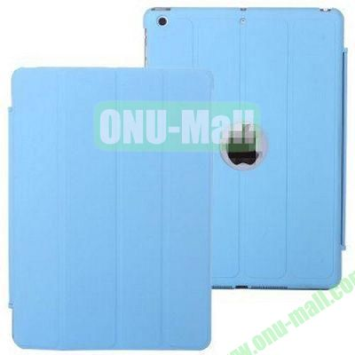 4-folding PU Material Smart Case for iPad Mini Retina  iPad Mini 2  iPad Mini 3 With Holder (Blue)