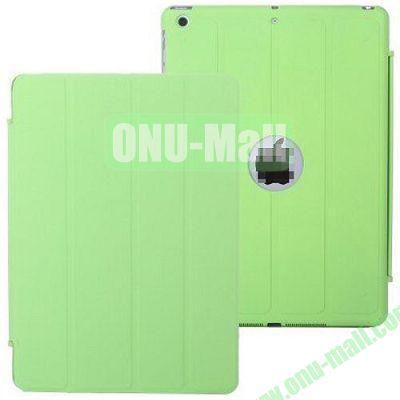 4-folding PU Material Smart Case for iPad Mini Retina  iPad Mini 2  iPad Mini 3 With Holder (Green)