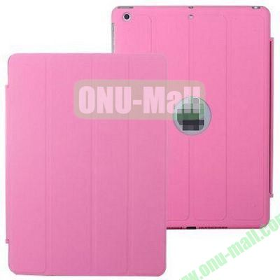 4-folding PU Material Smart Case for iPad Mini Retina  iPad Mini 2  iPad Mini 3 With Holder (Pink)