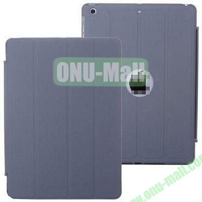4-folding PU Material Smart Case for iPad Mini Retina  iPad Mini 2  iPad Mini 3 With Holder (Grey)