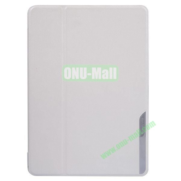 Baseus Brand Stand Leather Cover for iPad Air (White)