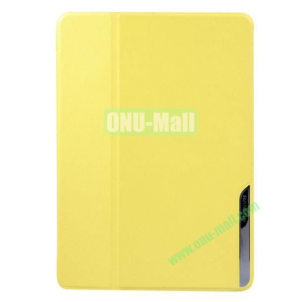 Baseus Brand Stand Leather Cover for iPad Air (Yellow)