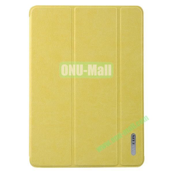 Baseus 3-folding Stand Leather Cover for iPad Air  (Yellow)