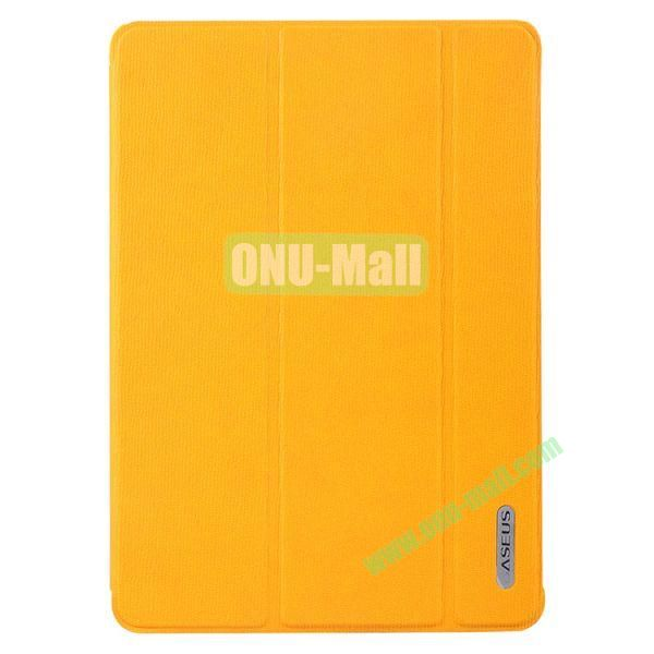 Baseus 3-folding Stand Leather Cover for iPad Air  (Orange)