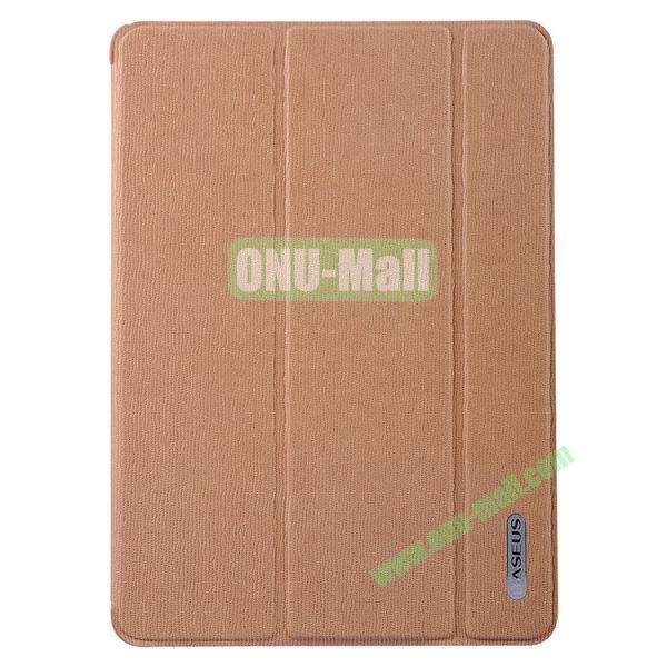 Baseus 3-folding Stand Leather Cover for iPad Air  (Brown)